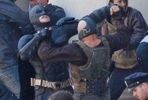Batman losing a fight
