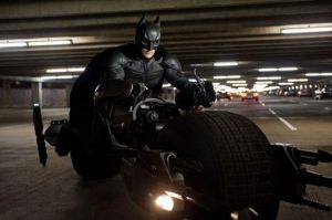 Batman on his motorcycle
